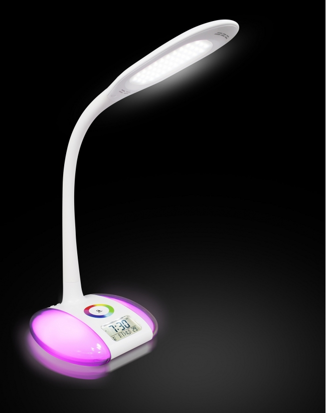 Flexible LED lamp with alarm clock