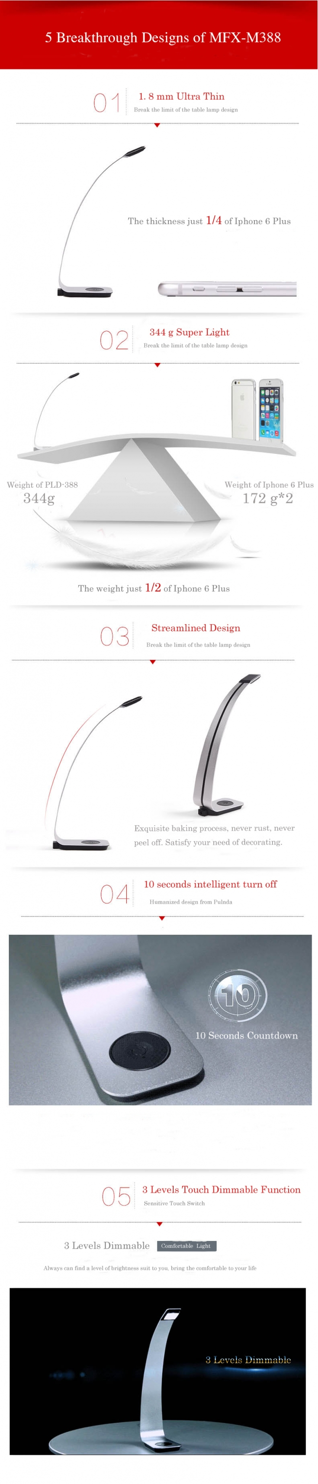 5 Advantages of MFX-M388 LED Table Lamp!