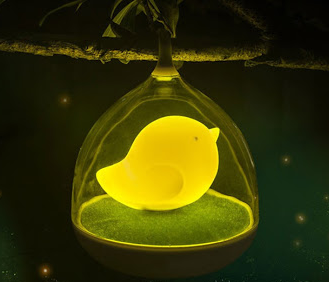 FANCY BATTERY OPERATED VIBRATION CONTROL BIRDS NIGHT LIGHTS