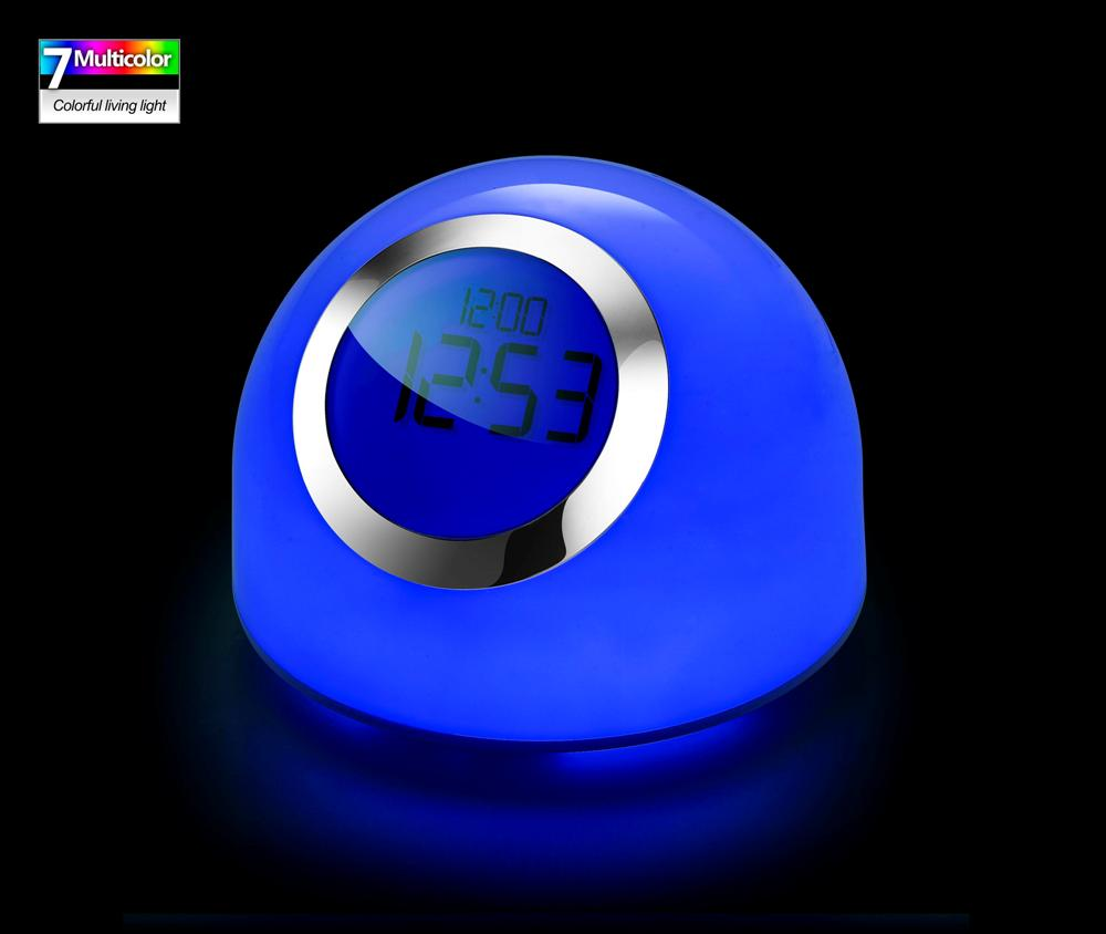 Color Changing Table Lamp Clock Bedside Lamp Decoration Lamp