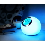 Color changing table lamp clock
