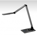 New Aluminum LED Desk Lamp, Metal LED Desk Lamp, Ultrathin Aluminum Alloy LED Desk Light, LED Ultra-Slim Desk Lamp with Adjustable Arms
