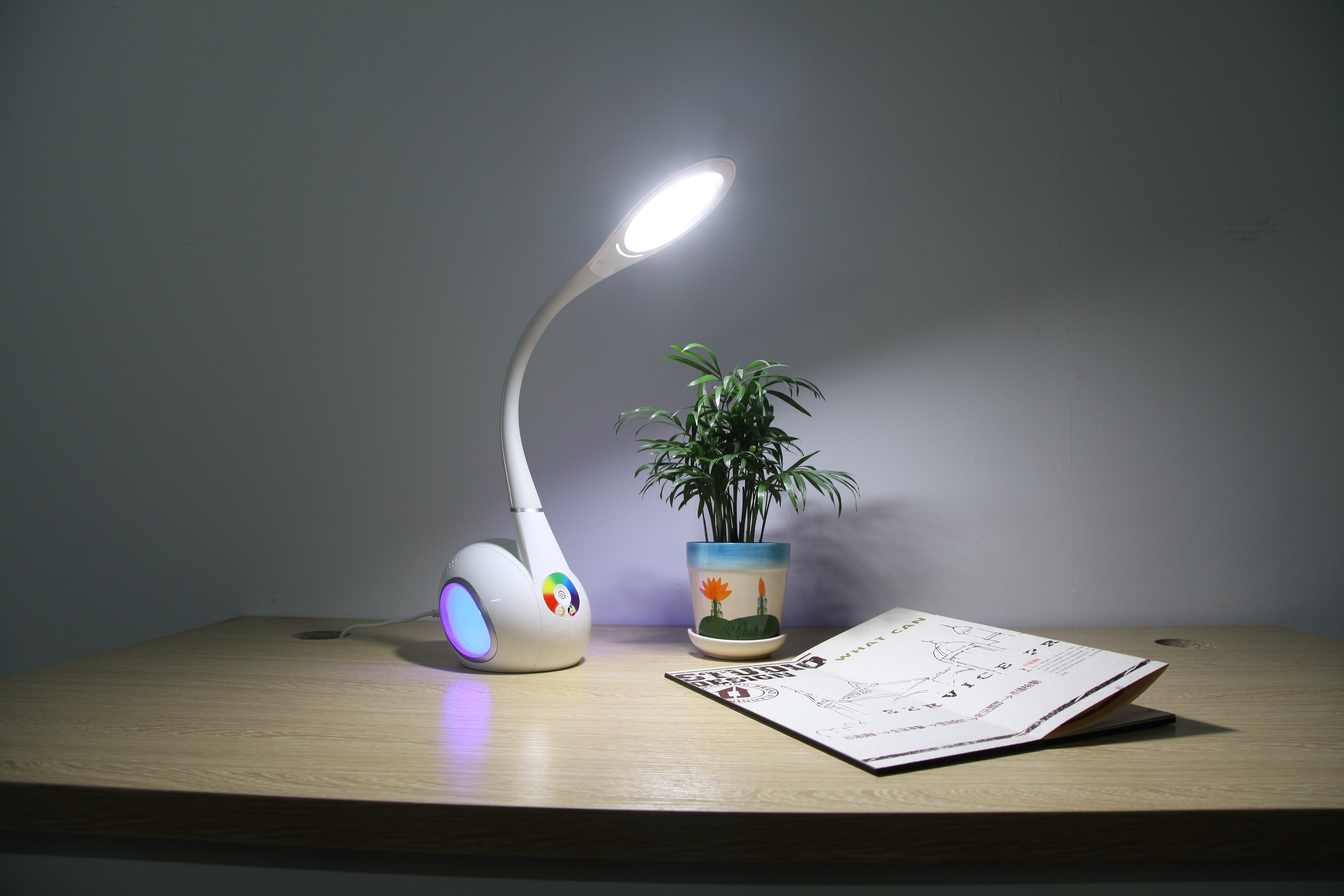 Swan Led Table Lamp With Color Changing Base Flexible Led Table Lamp Led Table Lamp With Night