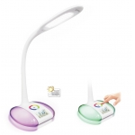 LED desk lamp with alarm clock, flexible LED study lamp, decorative LED reading lamp, modern LED table lamp