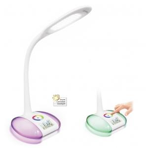 LED desk lamp with alarm clock, flexible LED study lamp, decorative LED reading lamp, modern LED table lamp
