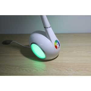 Swan LED table lamp with color changing base, Flexible LED table lamp, LED table lamp with night light