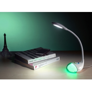 Flexible LED Table Light, LED Desk Lamp with Colorful Light, Goose neck LED Desk Lamp, Decorative LED Table Light